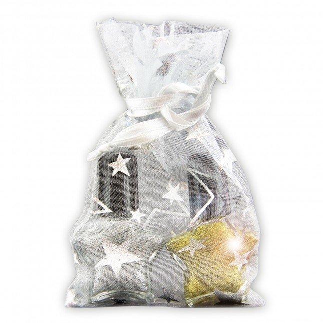Christmas Glitterlack in Sternfläschchen, SET silber & gold 2 x 5ml