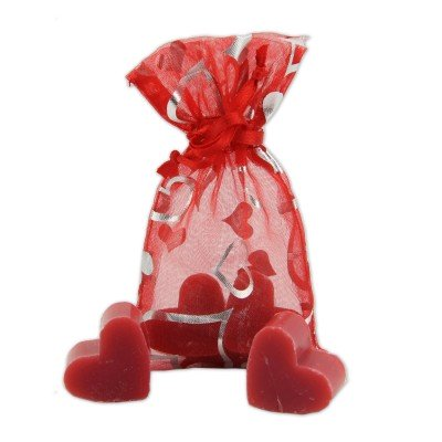 Pomegranate Scented Mini Soaps in Mesh Gift Bag