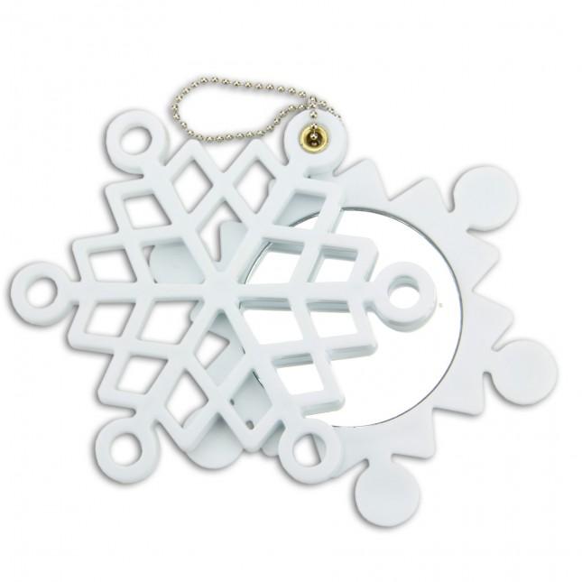 Snow Crystal Compact Mirror
