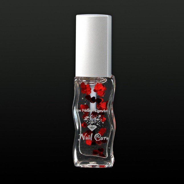 Rose scented Nail Oil with Hearts