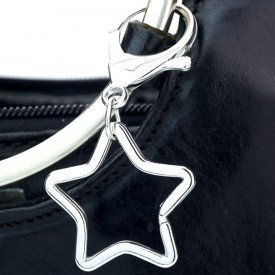 Star Design Key Ring with Carabiner