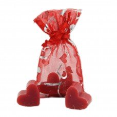 Pomegranate Scented Mini Soaps in Mesh Gift Bag